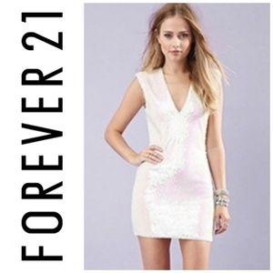 Forever 21 Iridescent Sequin Zip Mini Dress
